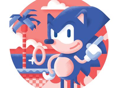Sonic the hedgehog - Best platform games ever illustration drive mega sega bit retrogaming level hedgehog sonic game platform best