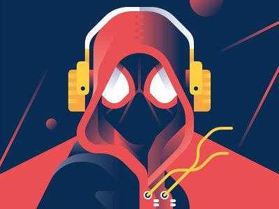 Miles Morales - Spider-Man: Into the Spider-Verse spider-man movie marvel illustration gradient geometric flat character