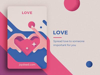Joydeed - Love hearth love tracking positive joydeed code cards