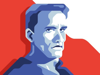 Hard2kill - Arnold Schwarzenegger 80s flat action hero predator terminator arnold schwarzenegger movie geometric illustration