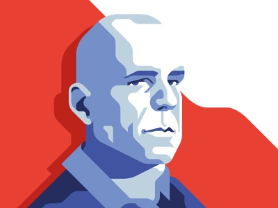 Hard2kill - Bruce Willis die hard bruce willis acton 80s hero movie flat geometric illustration