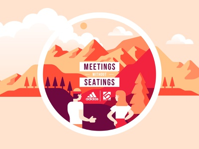 Adidas - Stickers 3 vector sticker sports sho studio sail ho studio outdoor nature mountains hiking illustration characters apparel adidas