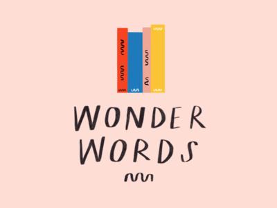 Wonder Words reading children logo illustration books brief wonderwords branding