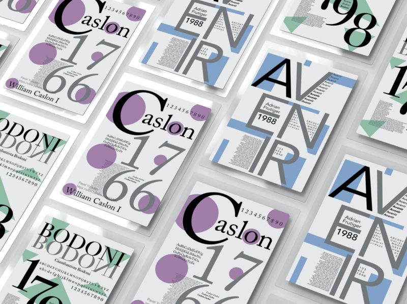 Typography Poster graphic design illustraion typography layout type design typeface type colorfull
