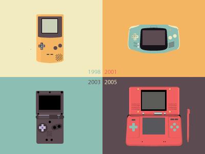 Nintendo Stuff  illustrator nintendo gameboy colors play video game