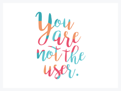 You are not the user