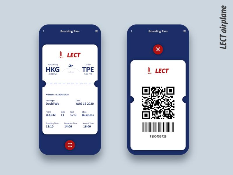 Daily UI :: 024 Boarding pass branding business daily 100 challenge app ui xd web design dailyui booking boarding pass