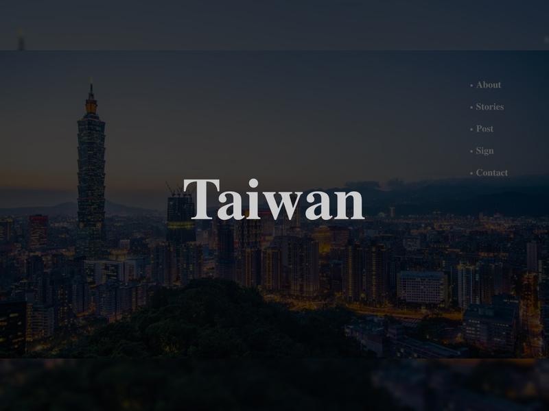 Daily UI :: 035 Blog Post_1 typography landingpage taiwan daily 100 challenge app xd web design dailyui