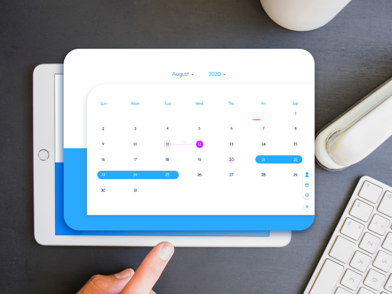 Daily UI :: 038 Calendar ipad calendar branding business xd daily 100 challenge app ui web design dailyui