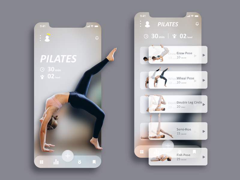 Daily UI :: 041 Workout Tracker pexels typography landingpage workout tracker workout daily 100 challenge app ui xd web design dailyui
