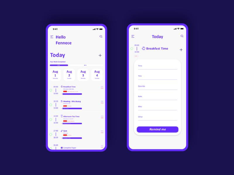 Daily UI :: 042 ToDo List icon branding app ui daily 100 challenge scheduling todo list xd web design dailyui