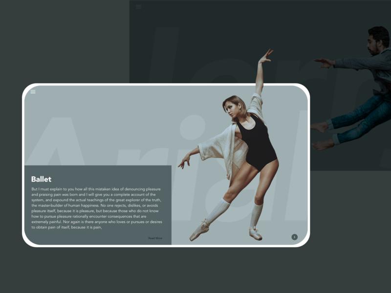 Daily UI :: 045 Info Card vector business landingpage ballet daily 100 challenge app xd ui web design dailyui