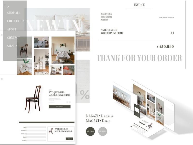 Daily UI :: 046 Invoice web typography invoice design landingpage business daily 100 challenge app xd ui design dailyui