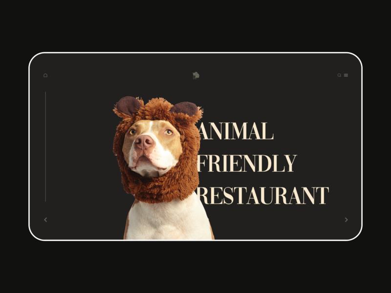 Daily UI :: 053 Header Navigation xd branding ui illustration landingpage restaurant animal business header navigation daily 100 challenge design dailyui