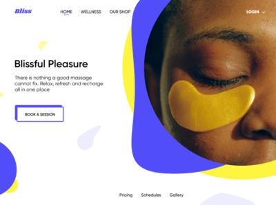 Bliss Spa branding typography web ui design