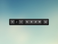 CKEditor 4 - buttons panel (ui) black icon icons button buttons web ui toolbar ckeditor theme skin interface free editor wysiwyg html5 css3