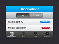 ViewWorld - mobile app mobile mobile app iphone ios mobile ui ui user interface blue grey list icons ngo npo tso