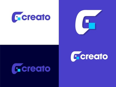 creato typography app vector minimal logo illustrator icon flat design