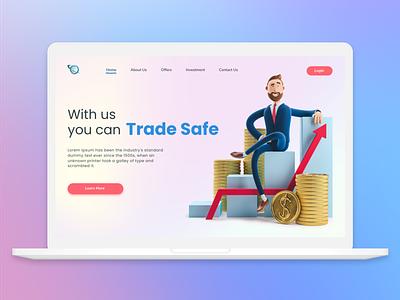 Trading Site web illustration design inspiration trade ui