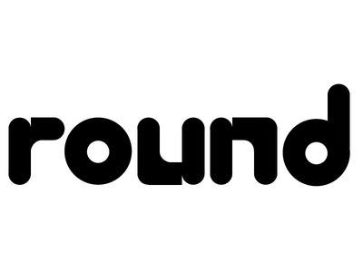 round typography modern type bubble letters type round