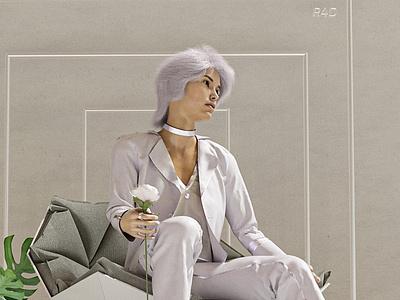 Freedom💜 motion graphics clo3d branding designer 3d artist cinema4d illustration design 3d fashion