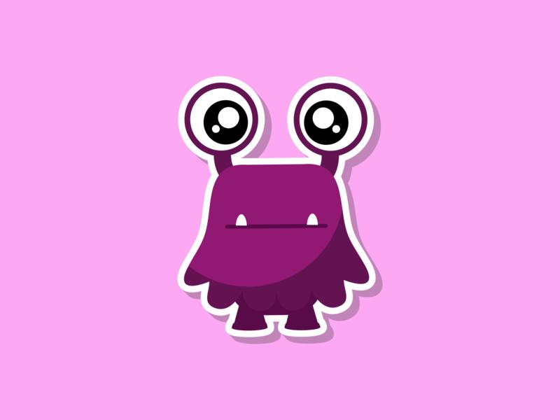 Crabby Monsta monsters baby flat illustration vector illustration vector design