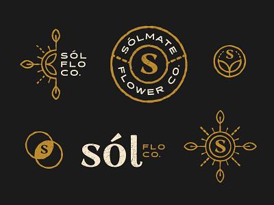 Sólmate Flower Co. Branding branding logo icons design hemp