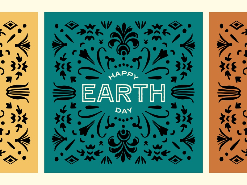 Earth Day 2020 vector graphic design typography design earth day
