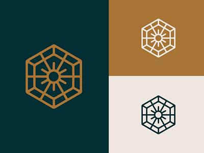Creative Health Logomark podcast logo podcast art mandala dopamine podcast branding logo icons design