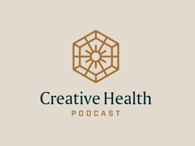 Creative Health Brand podcast logo mark logo branding design branding design typography