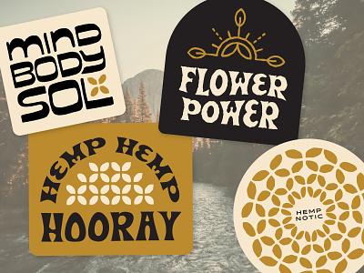 Solmate Stickies wellness cbd hemp type branding logo handlettering vector lettering design typography