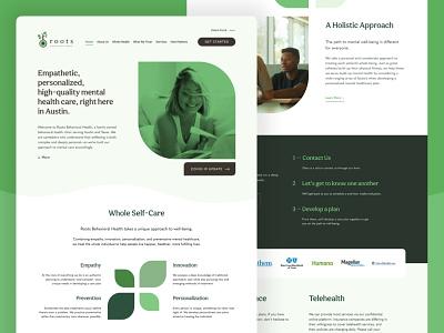 Roots Behavioral Health Website counseling therapy ui  ux branding website design webdesign website