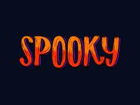Spooky Lettering