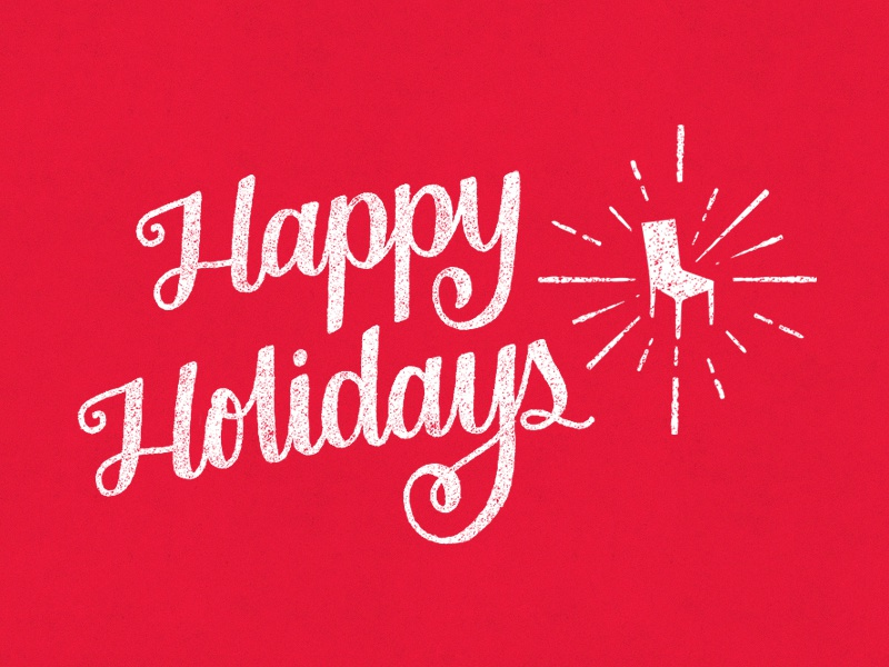 3/31: Happy Holidays holidays script type handlettering tilteddecember typography lettering