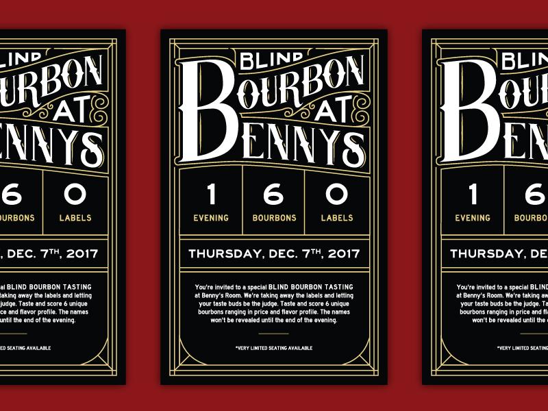 30/31: Blind Bourbon Tasting design flyer lettering typography bourbon