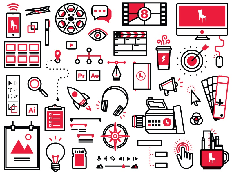 Tilted Icons for Days vector illustrator icons iconography design creative