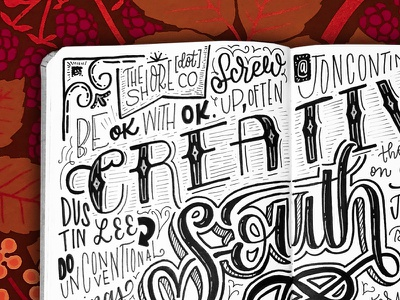 Creative South '18 Notes notes sketchnotes handdrawn typography handlettering