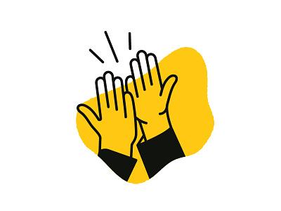 High five! branding illustration icons hands