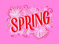 Spring Lettering + Doodles