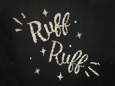 Ruff Ruff Rice tactile typography script type design handlettering typography lettering