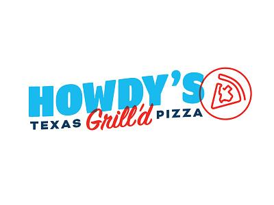 Howdy's Texas Grill'd Pizza Logo logomark logo design logo design restaurant branding texas pizza