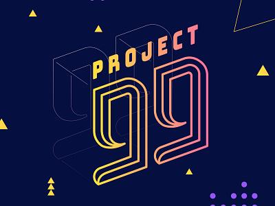 Project 99 Logo vector typography design branding