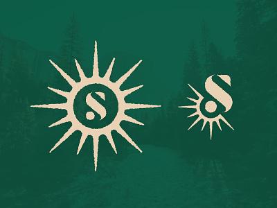 S is for Sun branding design logo design logo sun