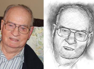 Portrait Commission face portrait sketch illustration