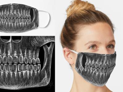 Pandemic (Covid-19) Skeleton Mask teeth skullmask skeletonmask skull skeleton creativemask printedmask pandemicmask facemask mask covid19 covidmask