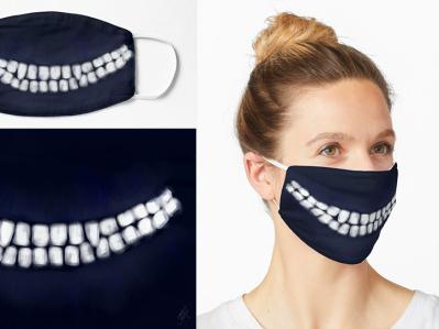 Pandemic (Covid-19) Cheshire Grin Mask bookart fanart cheshirecat grin cheshire creativemask printedmask pandemicmask facemask mask covid19 covidmask