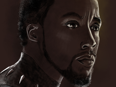 Black Panther Fan Art chadwick sketch chadwickboseman marvel superhero wakanda comic art fantasy art fan art black panther