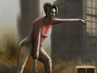 Karen Zombie manager fantasyart concept art game art fan art zombie karen digital painting