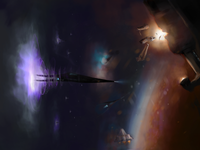 Space Invasion, part 1 planet spaceships space concept art conceptart scifi art scifiart scifi digital painting