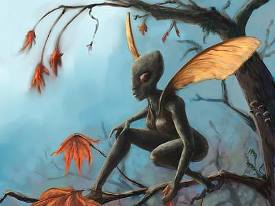 Faebruary2021 fantasy maple fantasyart fairy faerie faebruary